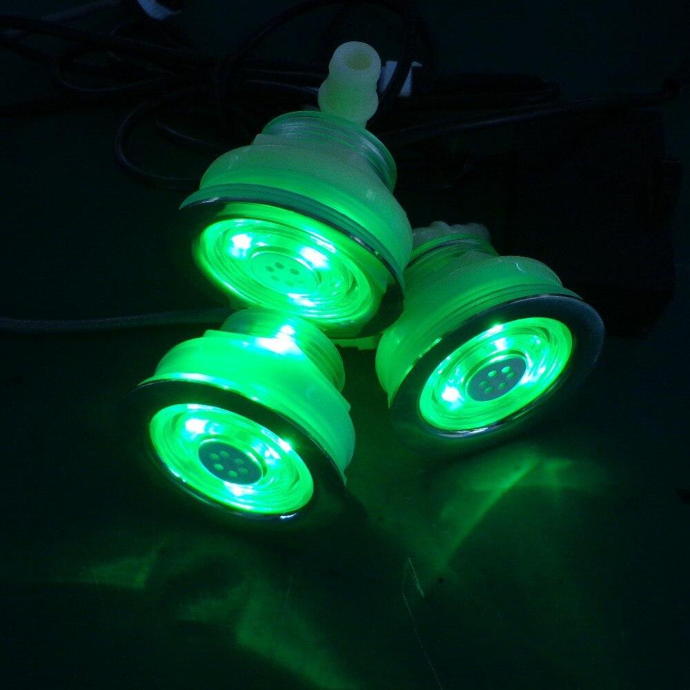 1 Stücke Vertieften Wasserdichte Rgb Led Unterwasser Whirlpool Air Bubble Jet Licht Ohne Manuelle Licht Controller Led Jet Lampe AusgewäHltes Material