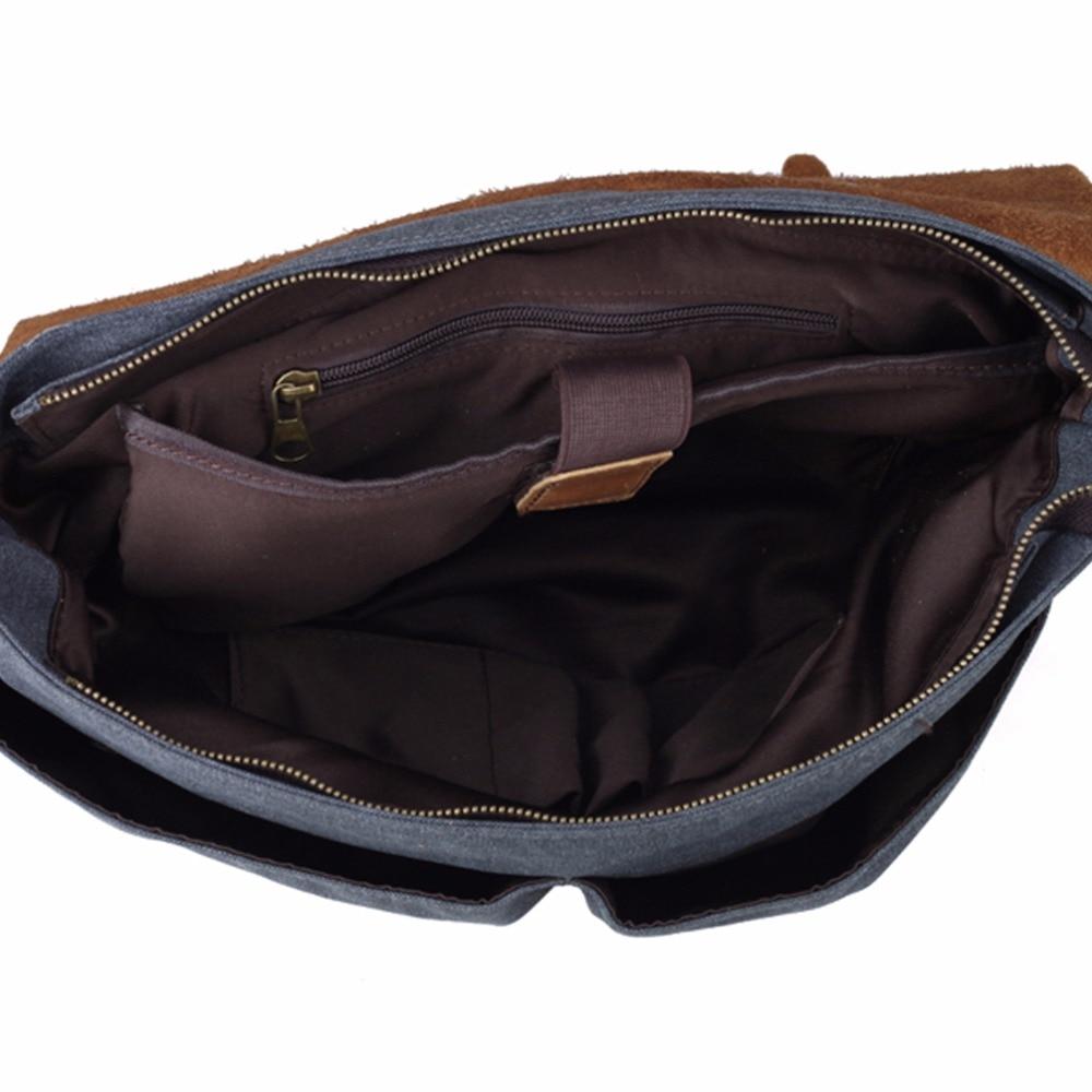 tiding homens canvas tote bolsas Capacidade : Can Hold Your Ipad And Laptop