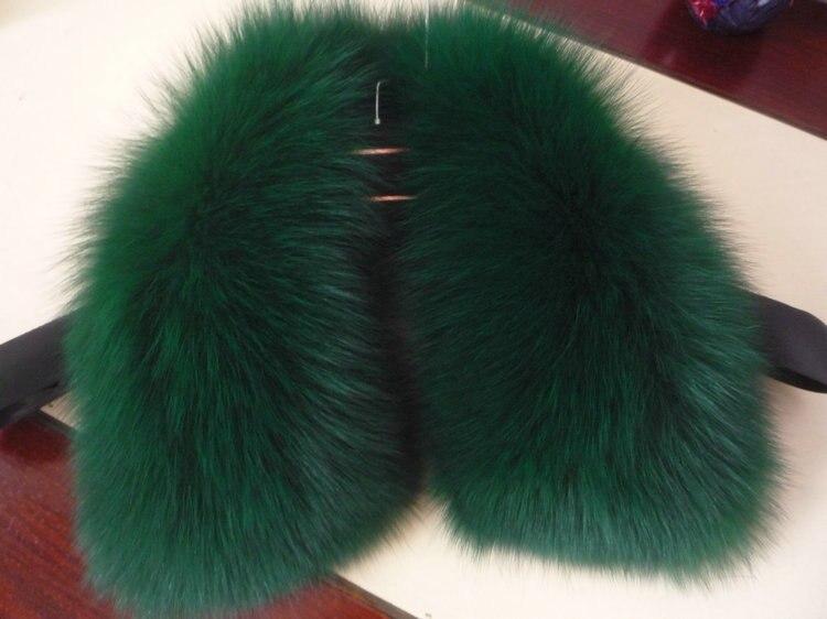 Livraison gratuite colliers de fourrure foulards homme et femme le col de fourrure de renard 22 couleurs femmes écharpe de fourrure col spécial - 5