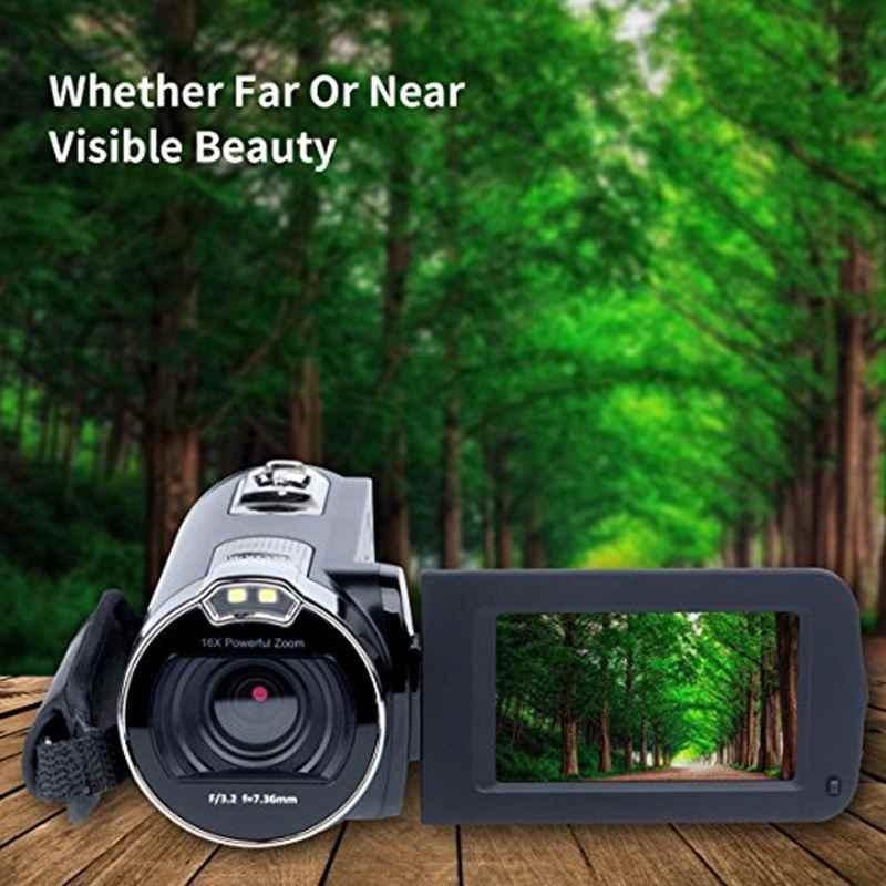 デジタルカメラビデオカメラkimire hdレコーダー1080 p 24 mp 16x強力なデジタルズームビデオカメラ2.7インチ液晶安定化wi