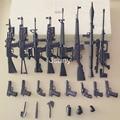 8PCS/SET + 54 Accessories The Assembly Model of 1:6 Guns M16A4 Series Soldier's Weapon Suit Model Desert Eagle Model Building