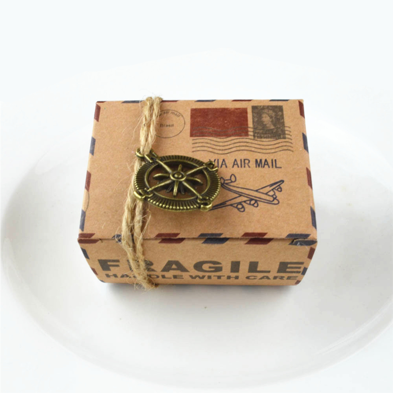 party wedding decoration candy box 5ps small kraft paper gift packaging boxkraft cardboard handmade - Decorative Gift Boxes