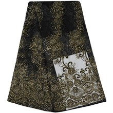 Hot Sale African Lace Fabric With Stones 2017 Fashion French Lace Fabric Nigerian Fabric Bridal High Quality For African Women