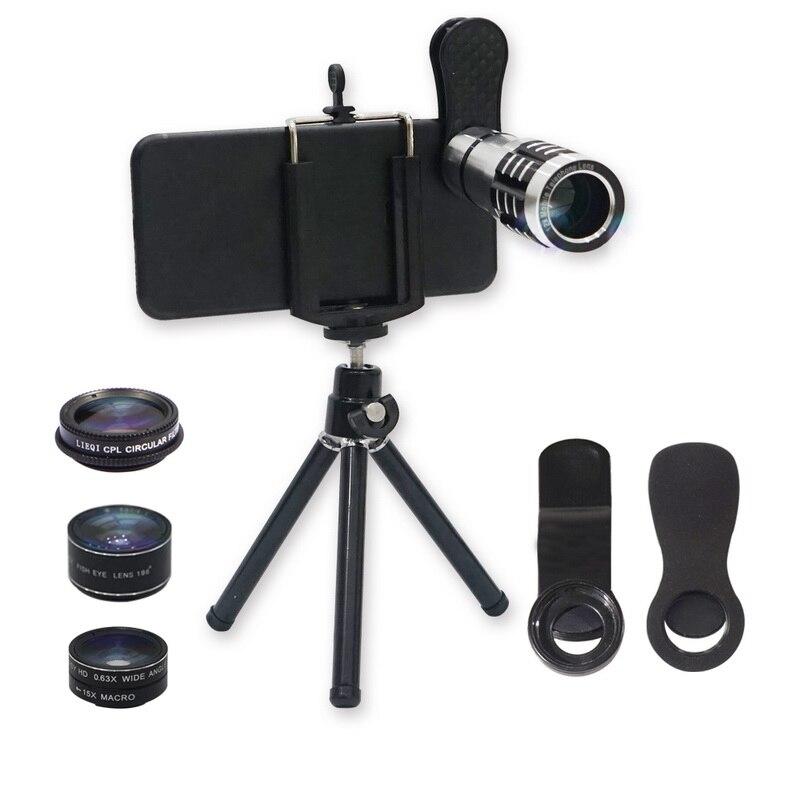 LIEQI Camera Lens Kits,5 In 1 HD Universal Clip On Phone