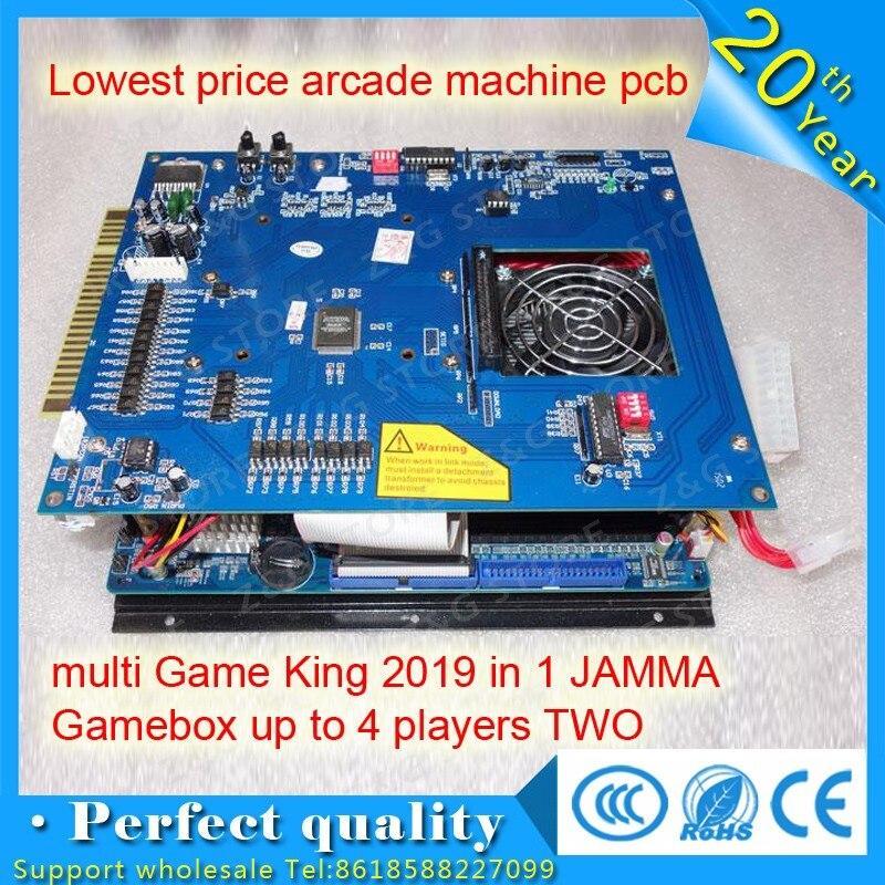 2100 en 1 prix le plus bas arcade machine pcb multi jeu roi JAMMA Gamebox jusqu'à 4 joueurs deux armoires sans alimentation ATX
