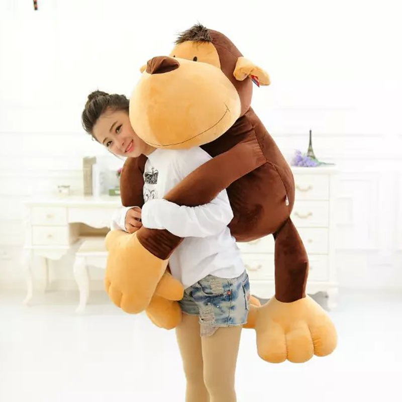 fillings toy very large 130cm brown monkey plush toy, long arms monkey doll, hugging pillow birthday gift w5239 70cm lovely monkey plush toy cici monkey doll throw pillow birthday gift w6290