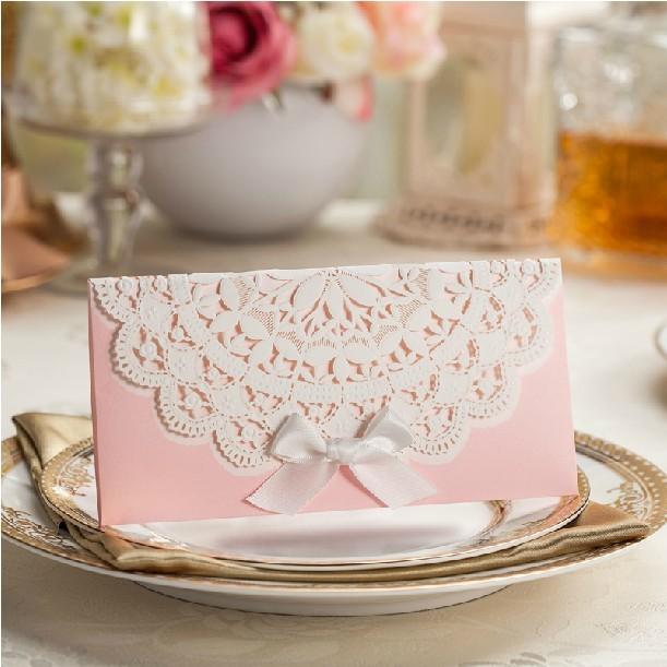 sobres para tarjetas de boda caliente rosa de corte por lser tarjeta sobre de la invitacin