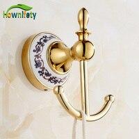 Free Shipping Bathroom Soild Brass Wall Mounted Towel Hook Clothe Hanger Coat Hook