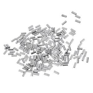 Image 4 - 200 قطعة خيط صنارة الصيد تجعيد سلك زعيم كم أنبوب الصيد موصل 1.0 مللي متر/1.2 مللي متر/1.5 مللي متر