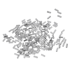 Image 4 - 200pcs Fishing Line Crimp Wire Leader Sleeve Tube Fishing Connector 1.0mm/1.2mm/1.5mm