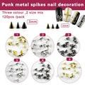 100pcs /lot Gold Silver Black Metal Nail Art Tiny Stick Cone Spike Studs Spots Craft Diy