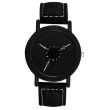 SANYU для женщин кожаный ремешок часы Роскошные повседневное бренд для женщин кварцевые часы дамы FemaleWrist черные