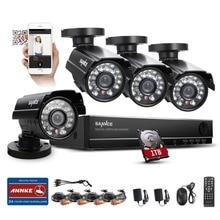 2016 SANNCE Inicio Seguridad 8CH 960 H HDMI DVR 4 UNIDS 800TVL Al Aire Libre Kit de Sistema de Cámaras de CCTV 8 Canal de Video de Vigilancia Con 1 TB HDD