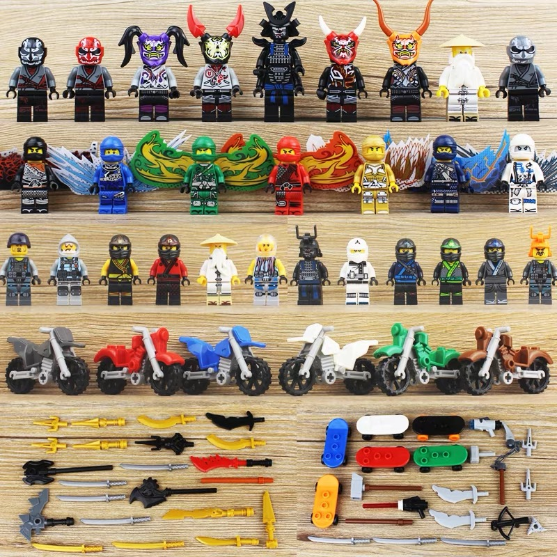 New Ninja Heroes Series Figures Set Lloyd Compatible With Legoe Ninjagoes Model Building Blocks Bricks Kids Toys For Children