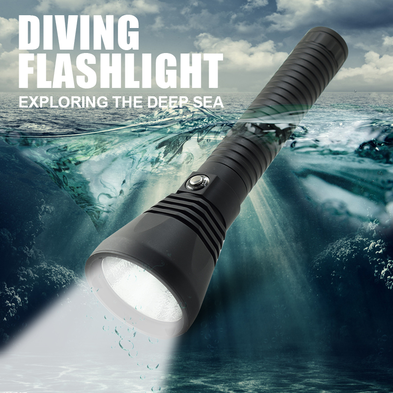 Underwater 100M Dive Tactical Lantern 4000LM XHP70 LED Diving Flashlight Torch With 18650 Battery + Charger For Camping Fishing professional waterproof dive flash light xhp70 led diving flashlight tactical torch with 4 18650 battery charger for camping