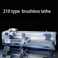 LISM 210 Small bench lathe brushless motor lathe 750W Household DIY variable speed mini metal lathe machine 110V 220V