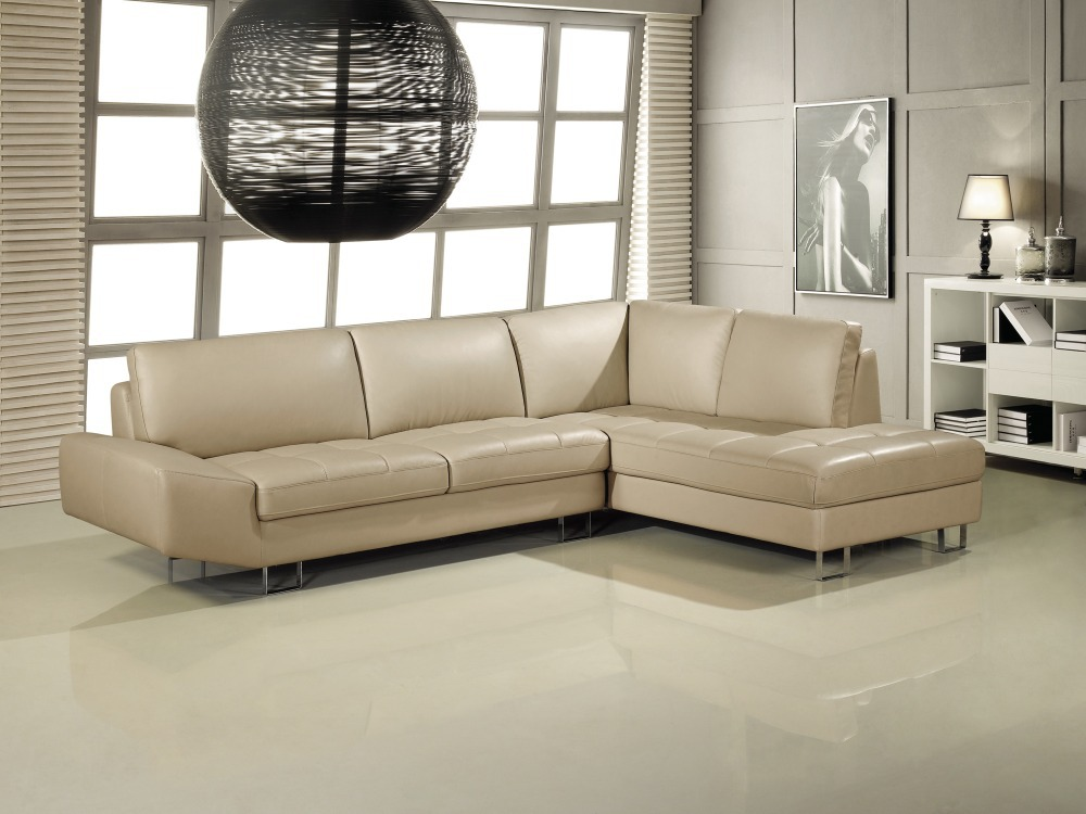 Elegant and rational Leather sofa Livingroom sofa sectional --Wholesale and retail shipping to your port