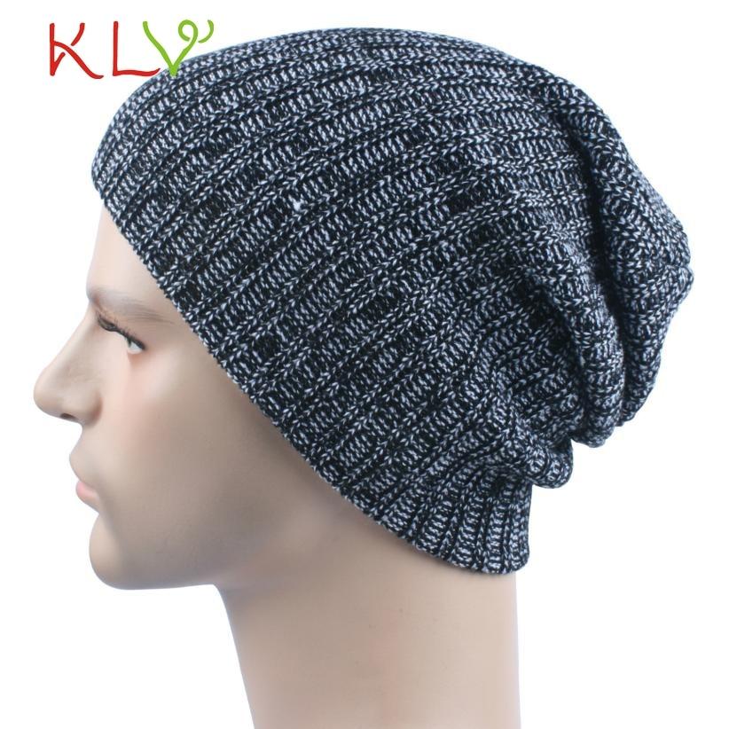 Skullies & BeaniesMen Women Baggy Warm Crochet Winter Wool Knit Soft Beanie Skull Slouchy Caps Hat Levert 2017 302 Hot 2017 skullies