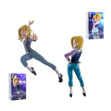 XINDUPLAN Dragon Ball Z Action Anime Android 18 Lazuli Son Goku Super Saiyan Action Figure Toys 15cm PVC Collection Model 0336
