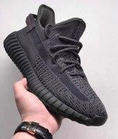 2019 Wholesale Green black grey Glow In The Dark 350 Running Shoes Kanye West Designer Men Women Ober Mesh Sports Sneakers