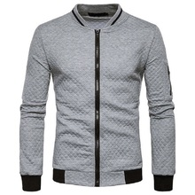 Фотография Mens Casual Hoodies Sweatshirts 2017 New Fashion Contrast Color Slim Fit Zipper Cardigan Argyle Hoodie Sweatshirt Men