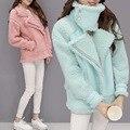 Coreano nova queda e roupas de inverno nova auto-cultivo casaco cordeiros camurça cor sólida quente camurça jaqueta curta outwear parkas MZ1125
