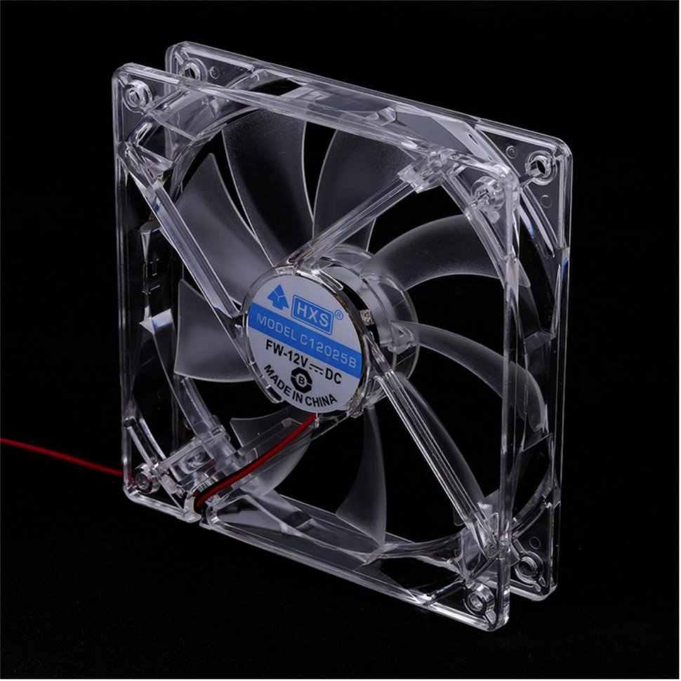 Kipas Pendingin Komputer PC Fan Quad 4 LED Light 120 Mm Komputer PC Case Cooling Fan MOD Tenang Konektor Molex mudah Dipasang Fan 12V