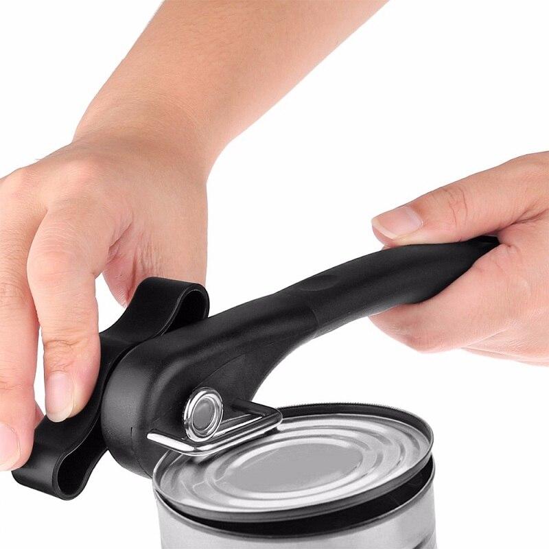 1 יחידות ביתי מטבח כלים קל ידני מתכת יכול פותחן מקצועי מאמץ פותחני נירוסטה עם ידית תור D0423