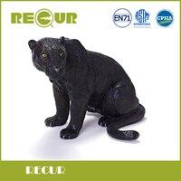 Ripetono Giocattoli di Alta Qualità Black panther Modello di Simulazione Dipinto A Mano Morbido PVC Figure Giocattolo Animale Selvatico Regalo Collezione