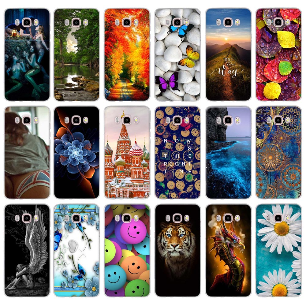 Soft TPU Printed Case For Samsung Galaxy J5 2016 J510 J510F SM-J510F Silicon Cover for Samsung J5 2016 J510 sm-j510f j510fn Case