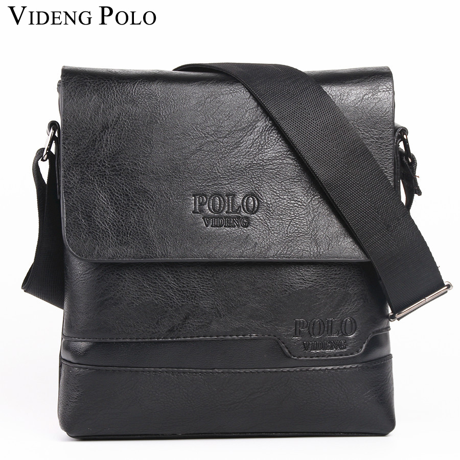 VIDENG POLO Famous Brand Leather Men Bag Casual Business Leather Mens Messenger Bag Vintage Men's Crossbody Bag bolsas male polo men shoulder bags famous brand casual business pu leather mens messenger bag vintage men s crossbody bag bolsa male handbag