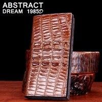 Classic men fashion wallet 100% real Leather wallet crocodile men's wallets 2019 designer High grade luxury purse leather Clutch