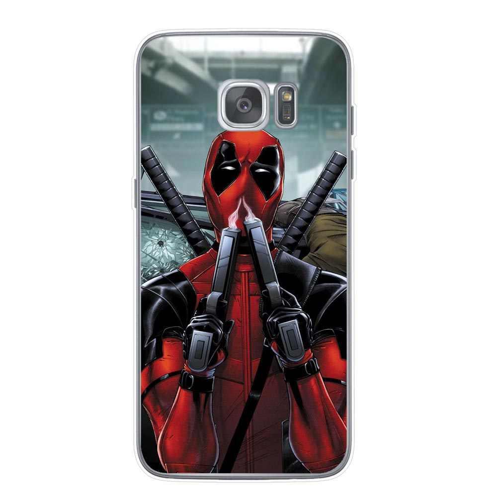 Marvel Avengers Người Sắt Deadpool Nọc Độc Silicone Ốp Lưng Điện Thoại Dành Cho Samsung S6 S7 Edge S8 S9 Plus S10 Lite s10 Plus Note 9