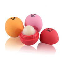 Cute Creative Spherical Fruit Flavored Lip Balm Natural Plant Moisturizing Lip Balm Lip Care Makeup Beauty Cosmetic 6 Colors
