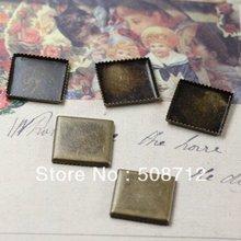 цена на Free shipping!!! Lead Free 1000pcs/lot 10mm bronze color square  Cameo Base Sett