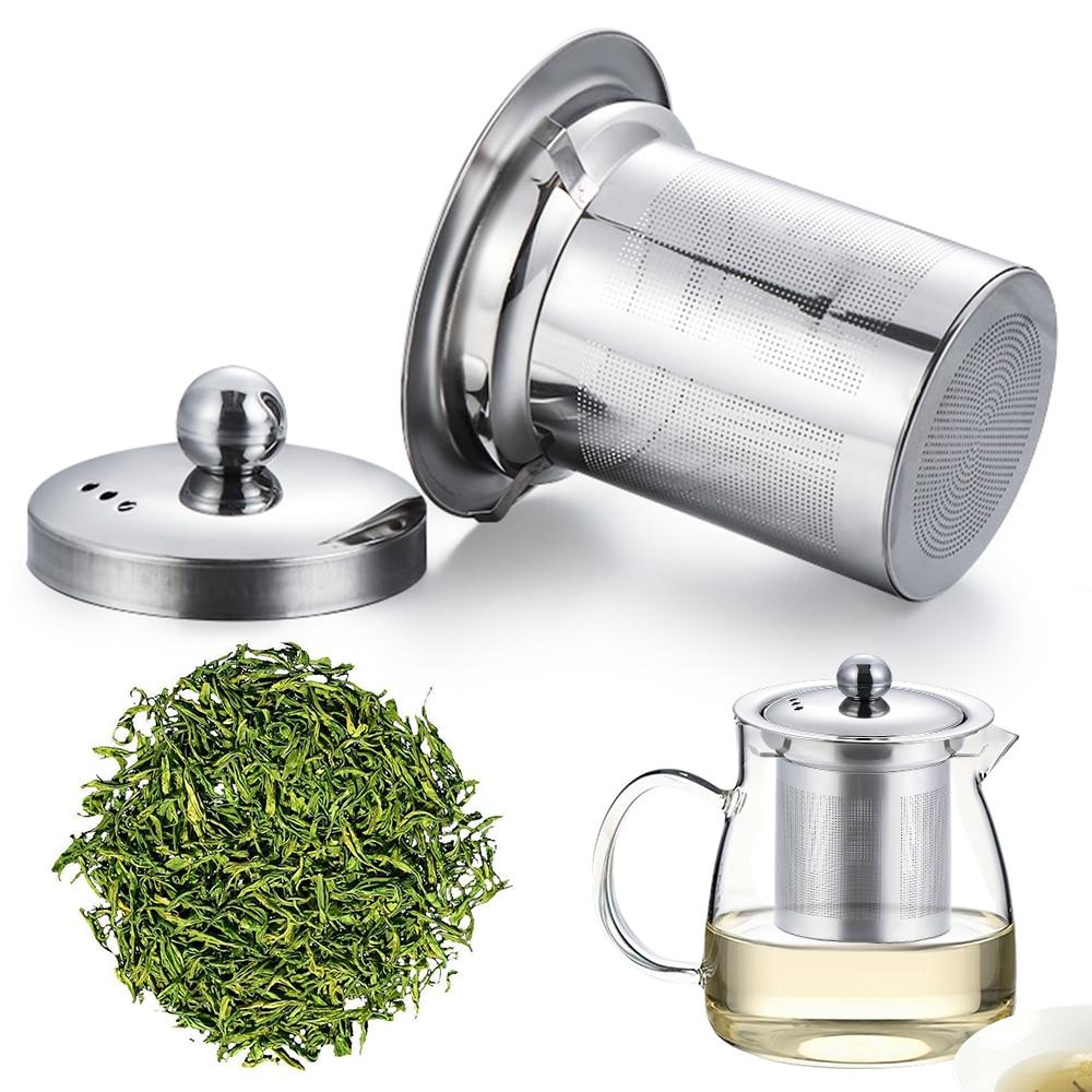 1 шт., s, m, l, ситечко для чая из нержавеющей стали, многоразовая сетчатая корзинка для заварки, фильтр для травяного настоя для кружки, чайный г...
