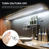DBF 1 5M 60LED 2835SMD Dimmable Hand Wave Motion Sensor Strip Waterproof 3000K Night Light