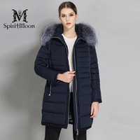 SpiritMoon 2018 Woman Down Parka Winter Women Jacket Coat Thick Outwear Coat Hooded With Natural Fur Collar Plus Size 5XL 6XL