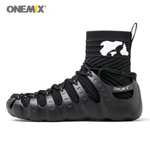 onemix men sport sneakers outdoor 1 shoes 3 wearing jogging walking sock-like environmentally friendly