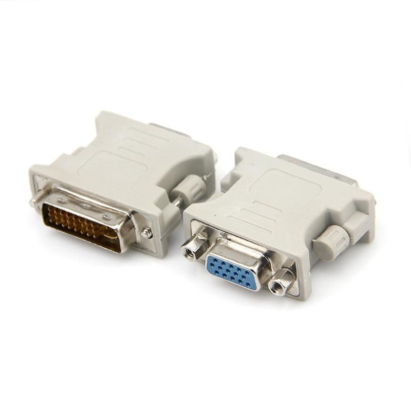 Beige color DVI 24+5 Male to VGA Female VIDEO Monitor projector Adapter Converter dvi vga adapter connector adaptor dvi 24 5 male to component video female adapter