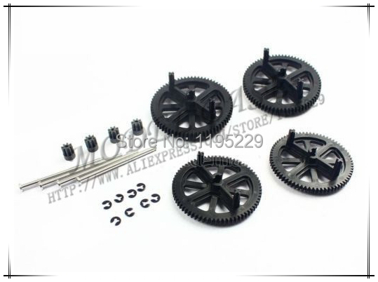 Parrot AR Drone 2.0 & 1.0 Quadcopter Spare Parts Motor Gears & Shafts Black