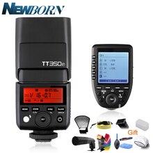 Godox Mini Speedlite TT350 TT350P Camera 2.4GHz Wireless Flash TTL HSS GN36 +Wireless Flash XPro P Trigger for Pentax Camera