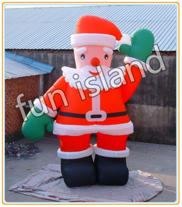 Giant christmas inflatable santa