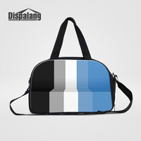 Dispalang 3D Printing Geometry Portable Shoulder Bag For Traveling Women Men Canvas Messenger Duffle Bags Clothes Overnight Bags