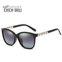 DIDI Cuadrado gafas de Sol Polarizadas Mujeres Hombres Steampunk Lente Transparente Marco De Plástico Perla De Cristal Accesorios Unidad Gafas W801