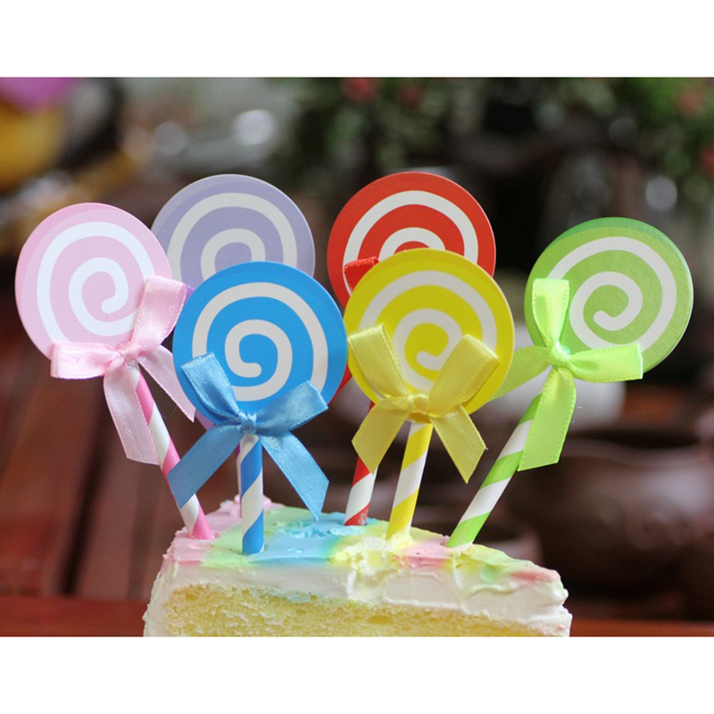 12pcs Mermaid Cupcake Wrappers Toppers Baby Shower Kids Birthday Party Favor GN