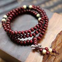 2014 модные 108 красные сандалии деревянный браслет Многослойные Бусины длинная наручная цепочка для мужчин и женщин Шарм браслет подарок опт...