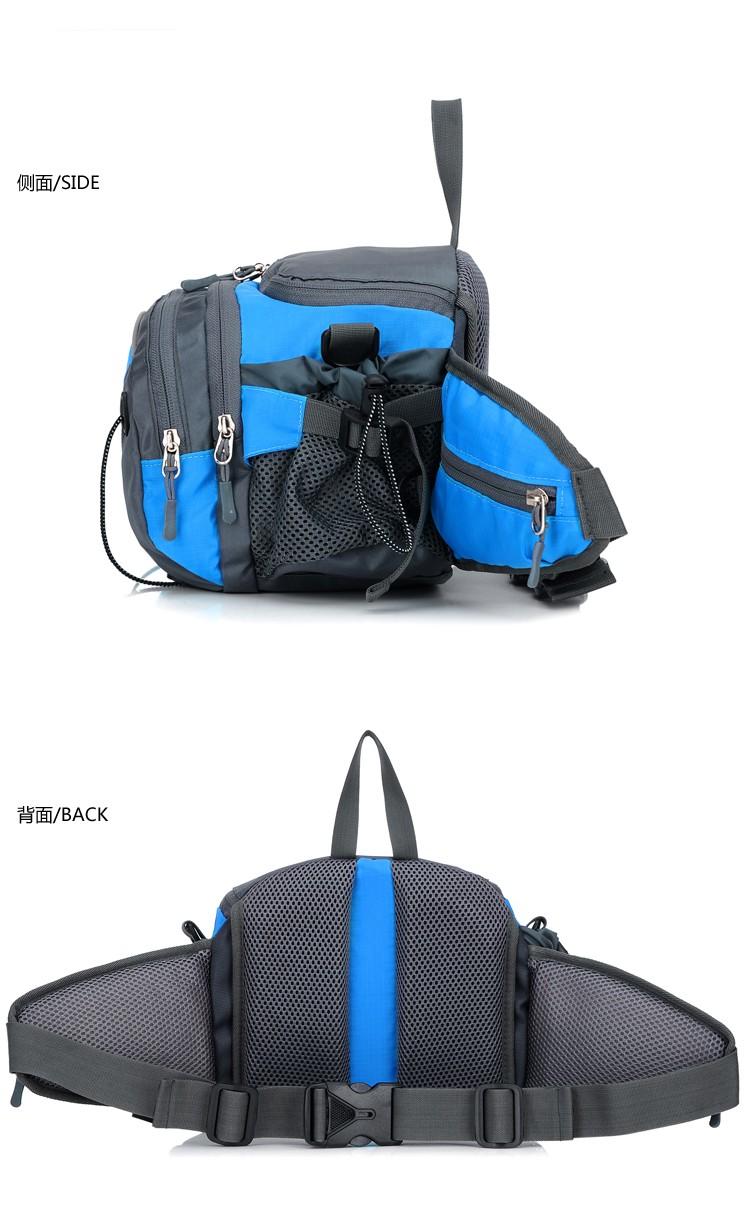 Men Women Sport Waist Bag Pack Backpack With Bottle Holder Outdoor Exploration Travel Casual Cycling Gym Storage Bag Packs (18)