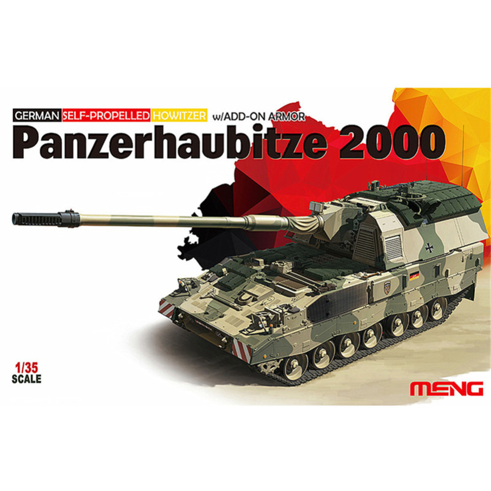 OHS Meng TS019 1/35 German Pzh2000 Self-Propelled Howitzer with Add-on Armor Military AFV Model Building Kits ohs meng ts015 1 35 german main battle tank leopard 1 a5 military afv model building kits