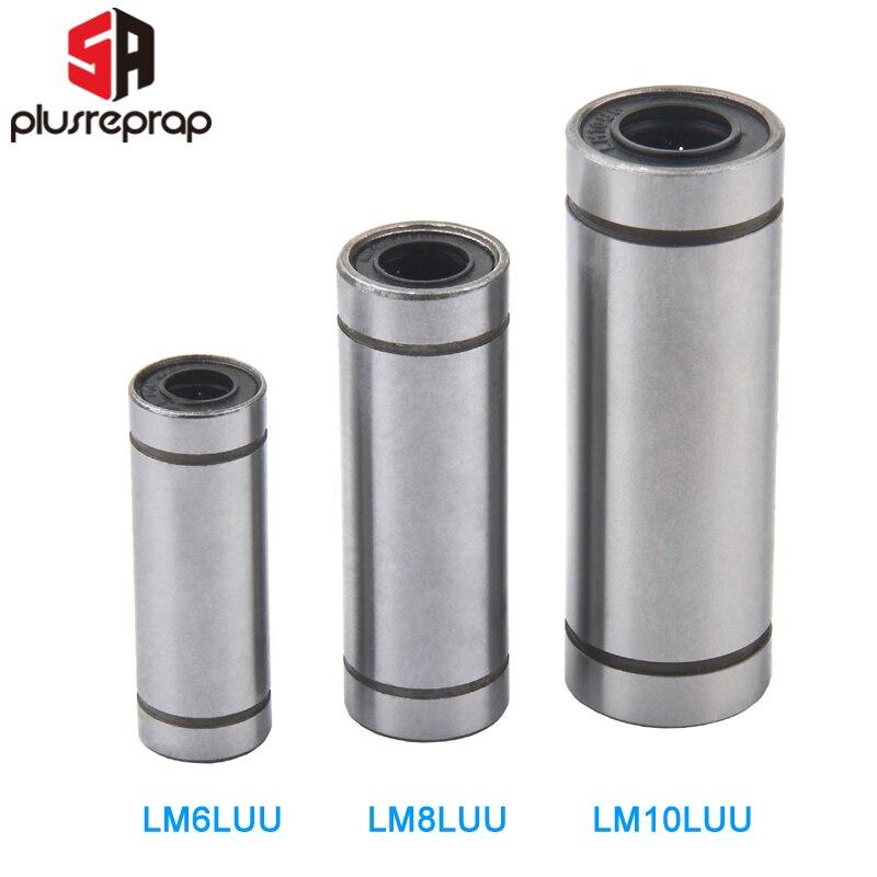 LM10LUU длинный линейный подшипник 10 мм шарикоподшипник 10 мм x 19 мм x 55 мм втулка для 10 мм стержня вала ЧПУ подшипник 3D принтеры Запчасти|parts 3d printer|for 3d printer3d printer rod | АлиЭкспресс